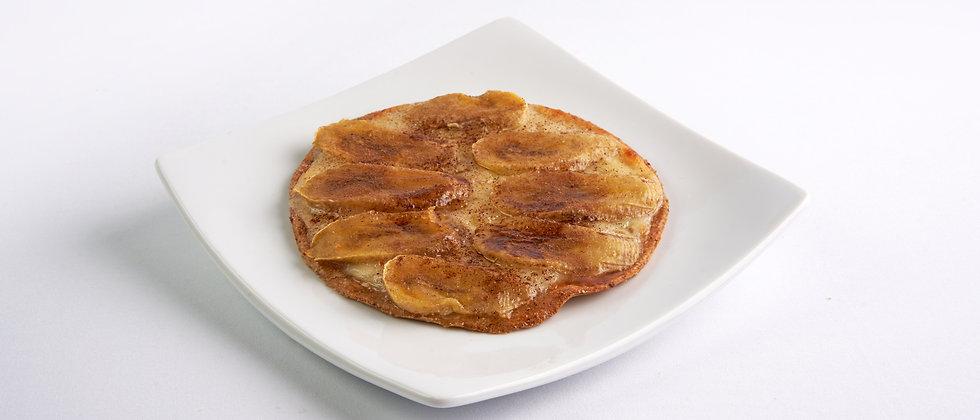 Pizza Fit de Banana com Canela - Zero Açúcar