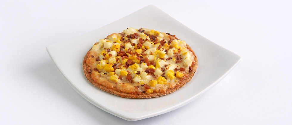 Pizza Fit de Ovos com Bacon