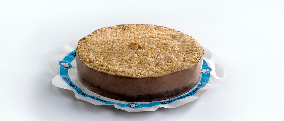 Torta Mousse de Chocolate com Nozes - Zero Açúcar