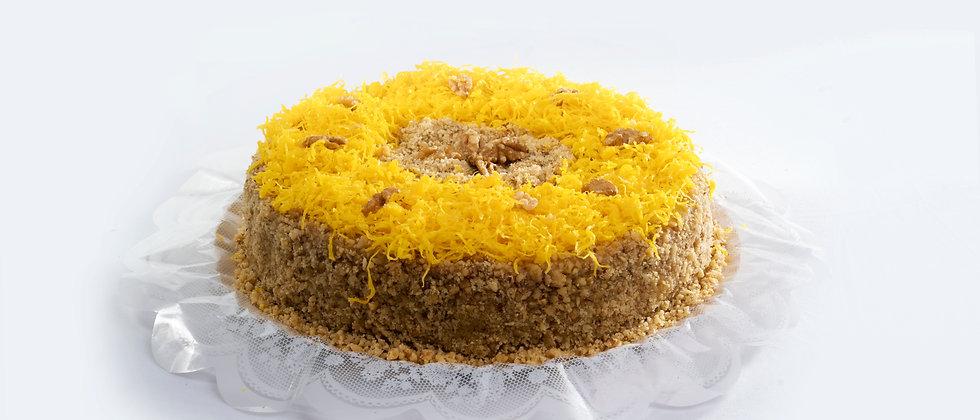 Torta Nozes com Fio de Ovos