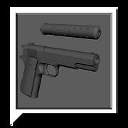 pistol 3d model by levent avan