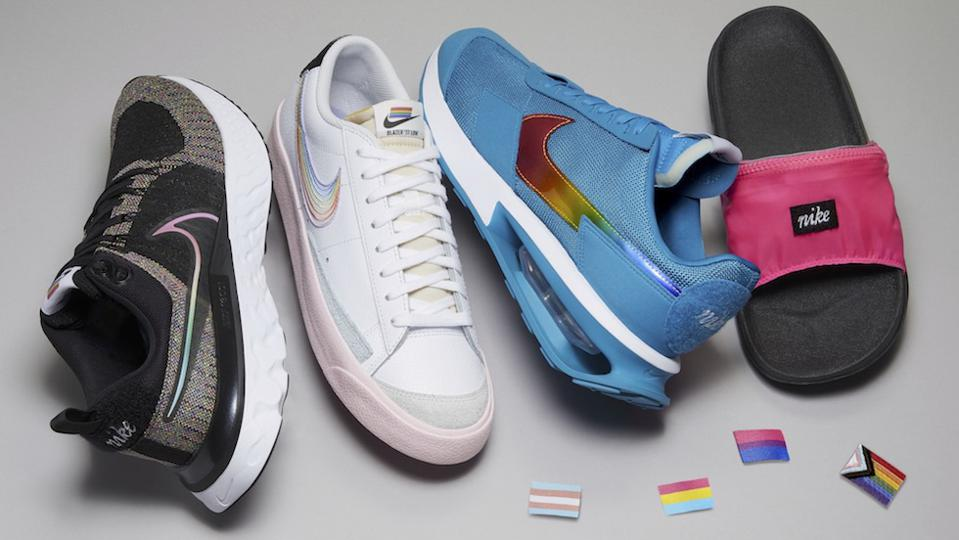 Sneaker culture supporting pride month