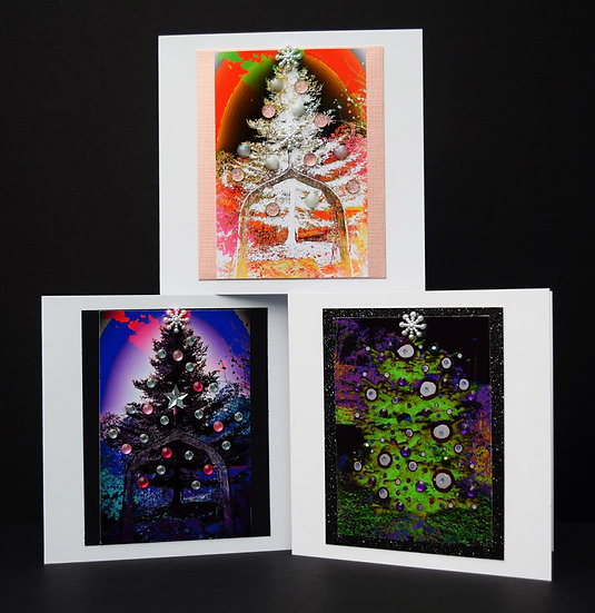 Christmas Trees Pack of 4 (on white card)