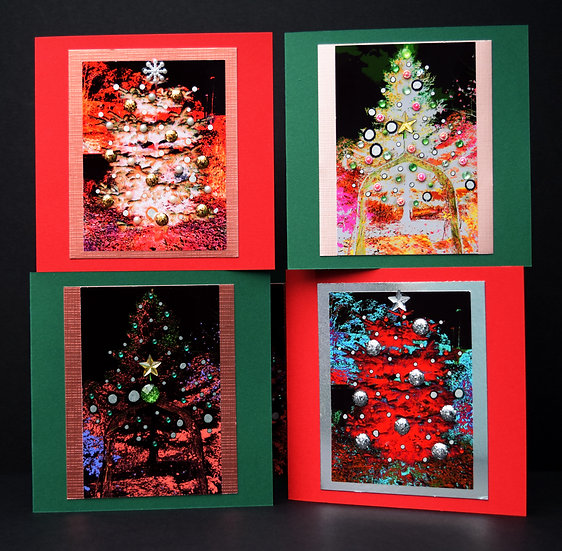 Christmas Trees Pack of 4