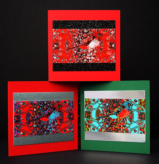 Christmas Birds Pack of 4
