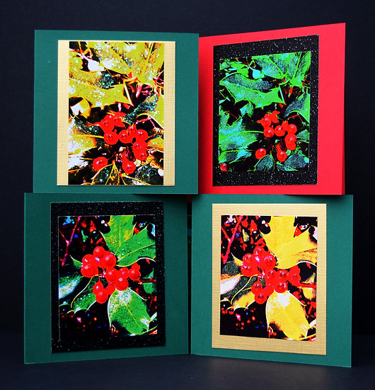 Christmas Holly Pack of 4