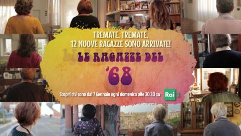 In arrivo la seconda stagione de Le Ragazze del '68. Dal 7 gennaio ogni domenica alle 20.30 su Rai3!