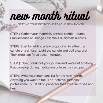 Ritual For Stepping Into A New Month