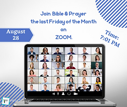 Join Bible & Prayer every last Friday of