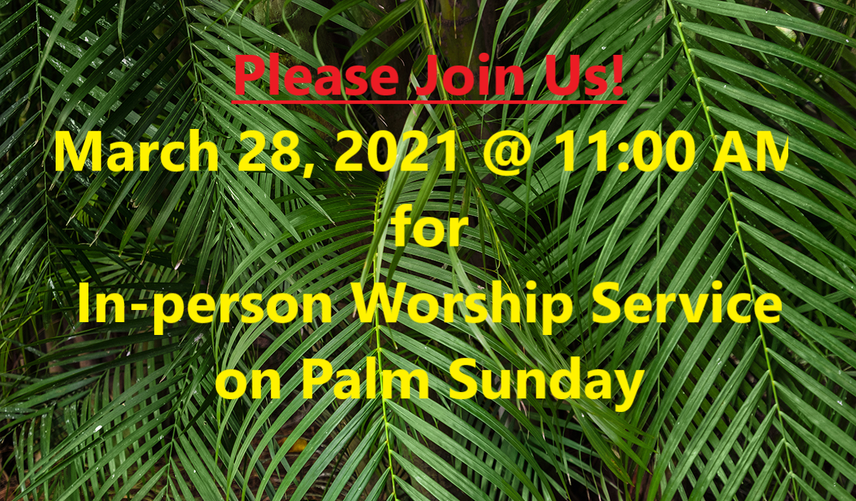 Palm Sunday Worship Service
