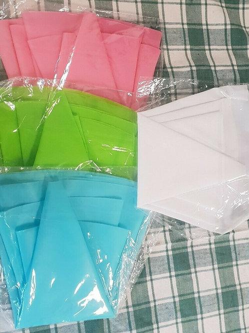 4pcs Silicone Reusable Piping Bag