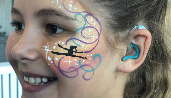 Gymnast face paint