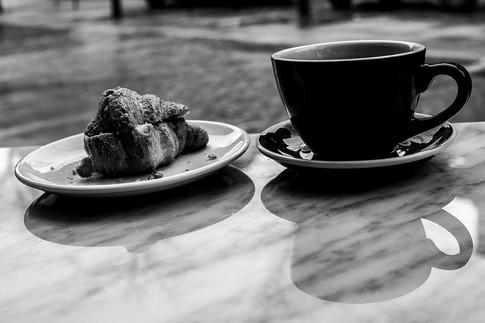 Croissant and Americano