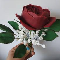 Rose O'Hara et Gymsophile - Fleur en gumpaste