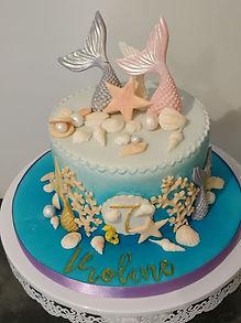Gâteau décoré thème sirène coquillages cake design gironde 33