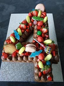 Number cake anniversaire 4 ans chocolat