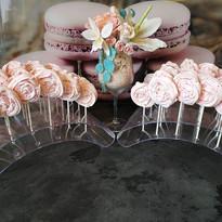 Bouquet de fleurs en sucre - sucettes de meringues