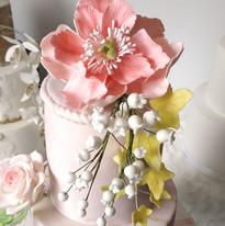 Pivoine rose - Fleur en gumpaste