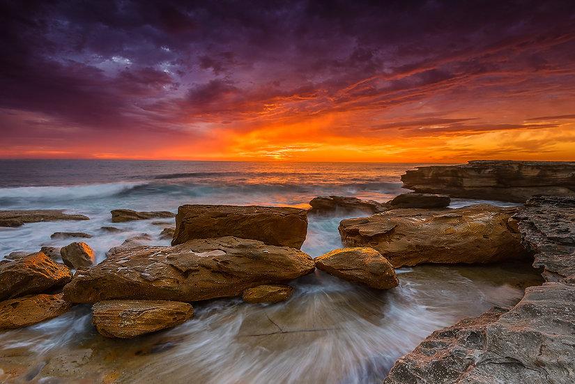 Shoreline Sunrise Print