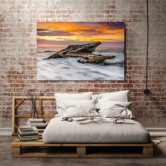 Ocean Rocks Stretched Canvas