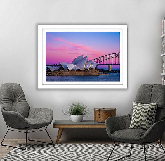 Sydney Harbour Pink Picture Frame