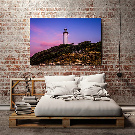 Norah Head Lighthouse Stretched Canvas