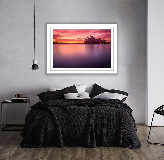 Sydney Harbour Pink Sunrise Picture Frame