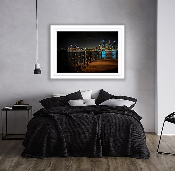 Sydney Night Sky Picture Frame