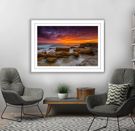 Shoreline Sunrise Picture Frame