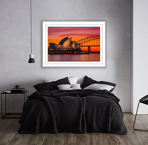 Sydney Harbour Sunset Picture Frame