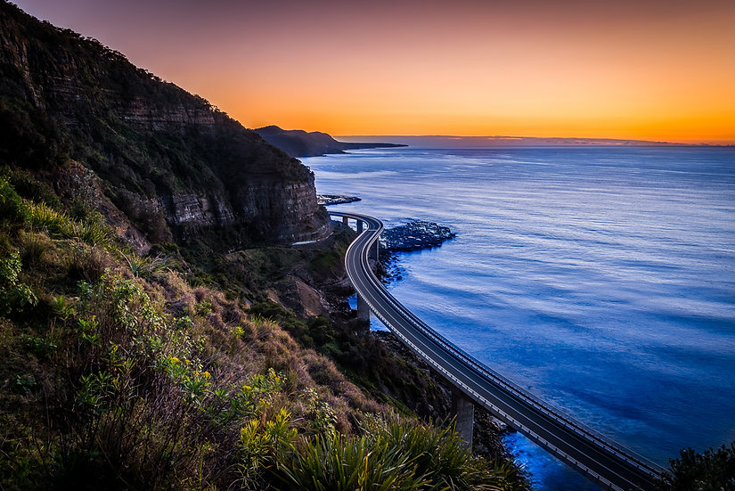 Sea Cliff Bridge Print