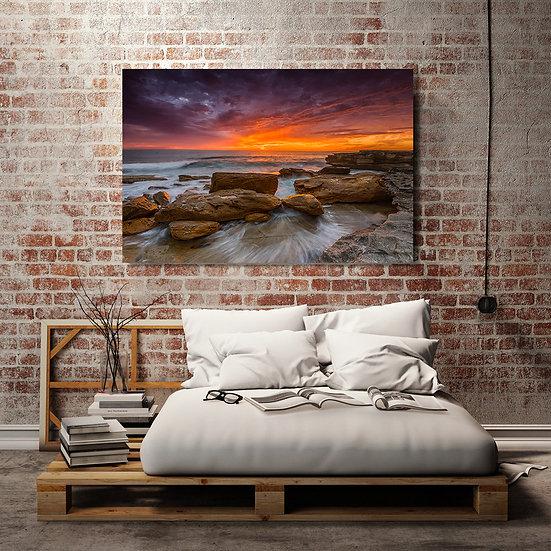 Shoreline Sunrise Stretched Canvas