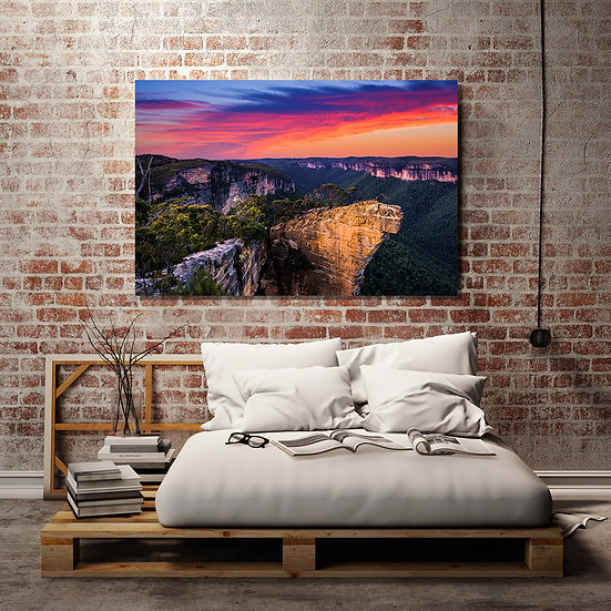 Hanging Rock Stretched Canvas