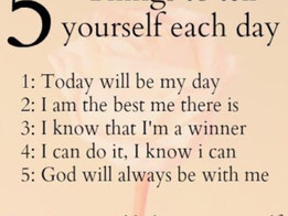 5 Daily Things To Tell Yourself