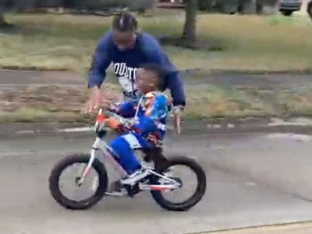 {Watch} 5-Year-Old On Autism Spectrum Rides Bike On 1st Try!!!