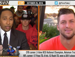 Kill'em with Kindness. Tim Tebow shuts down Stephen A. Smith with classy answer