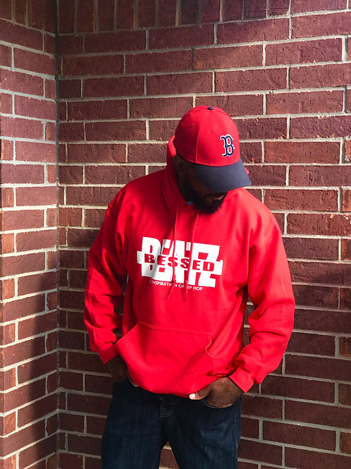 Blessed Beatz Hoodie (Red)