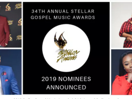 Nominees for 34th Annual Stellar Gospel Music Awards Announced, held March 29, 2019 in Las Vegas, NV