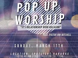 The Gathering church talks New Pop Up Church