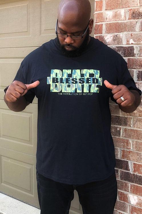 Blessed Beatz  Black T-Shirt  (Camouflage logo)