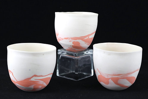 Clasper Cups Set of 3, Orange - Rachel Annabel