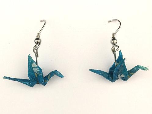 Japanese Crane Earrings