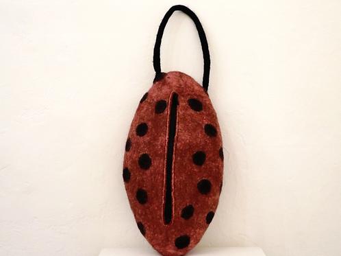 Felted Bag Dark Red - Claudia Tasche