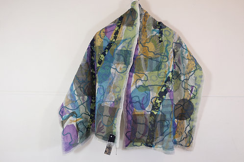 Rockpools Felted Wrap - Hilary Peterson