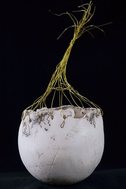 Horse Hair Raku Orb - Nancy Brunton