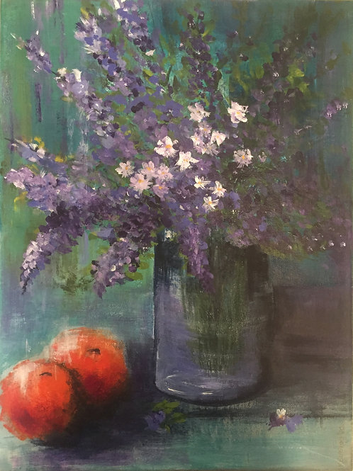 Flowers with Oranges- Katherine Blashki