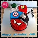 Egg-free, gluten-free Superhero cake