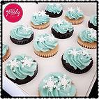 Snow themed cupcakes