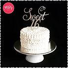 Maddisyn's Sweet 16 gluten free, dairy free and soy free birthday cake.
