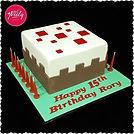 Gluten free Minecraft Cake